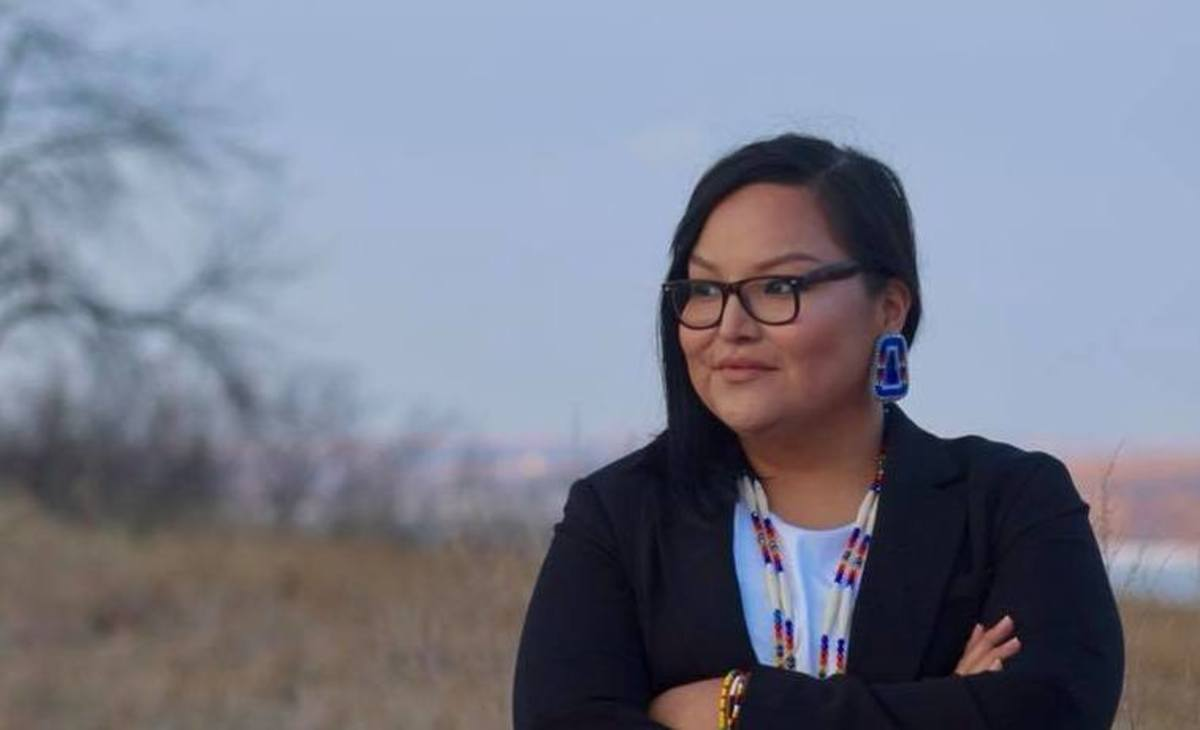 "Allison Renville, Hunkpapa Lakota, is running for the South Dakota Senate. ""I love my community, I've journeyed far and across the country but my spirit is here in District 1, South Dakota."" She says she's running to build on the legacy of Bernie Sanders' 2016 presidential candidacy."