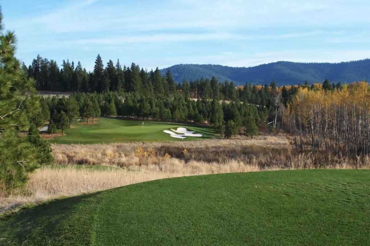 Circling Raven Golf Course on the Coeur d'Alene reservation.