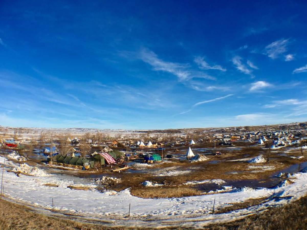 Oceti Sakowin camp of water protectors opposing the Dakota Access Pipeline (DAPL) on February 16, 2017.
