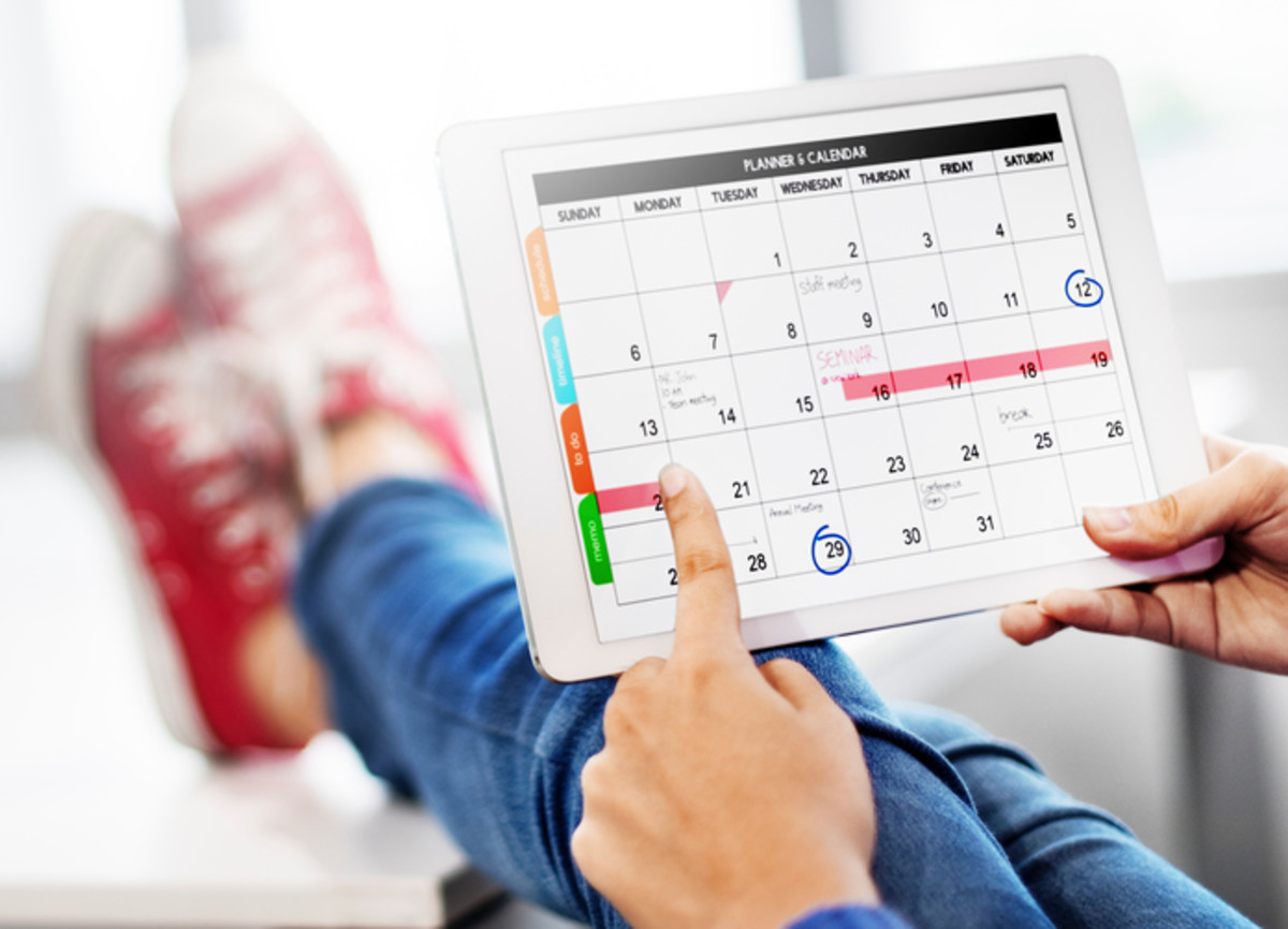 Use the calendar app on your phone or tablet, be creative.