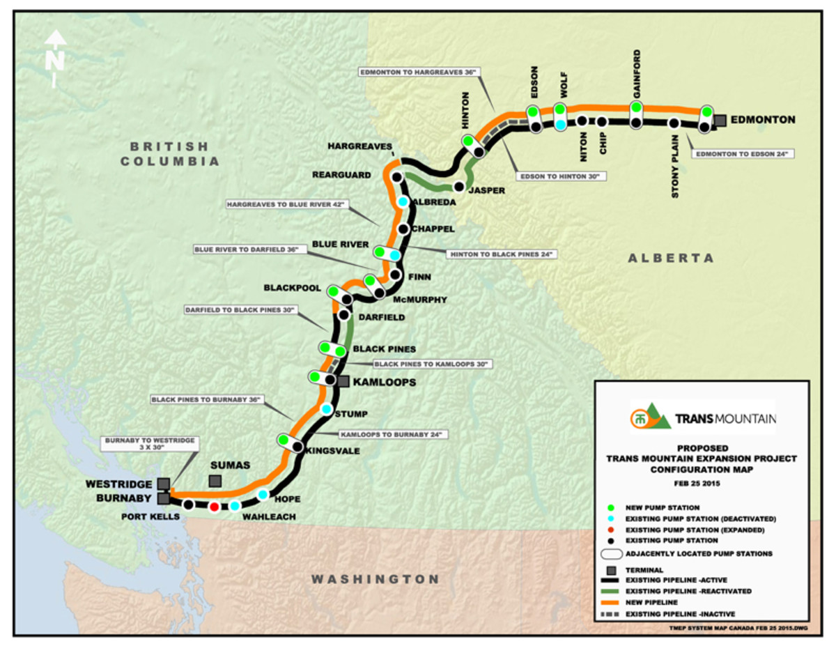 A map of the route from https://www.transmountain.com/planning-the-route.